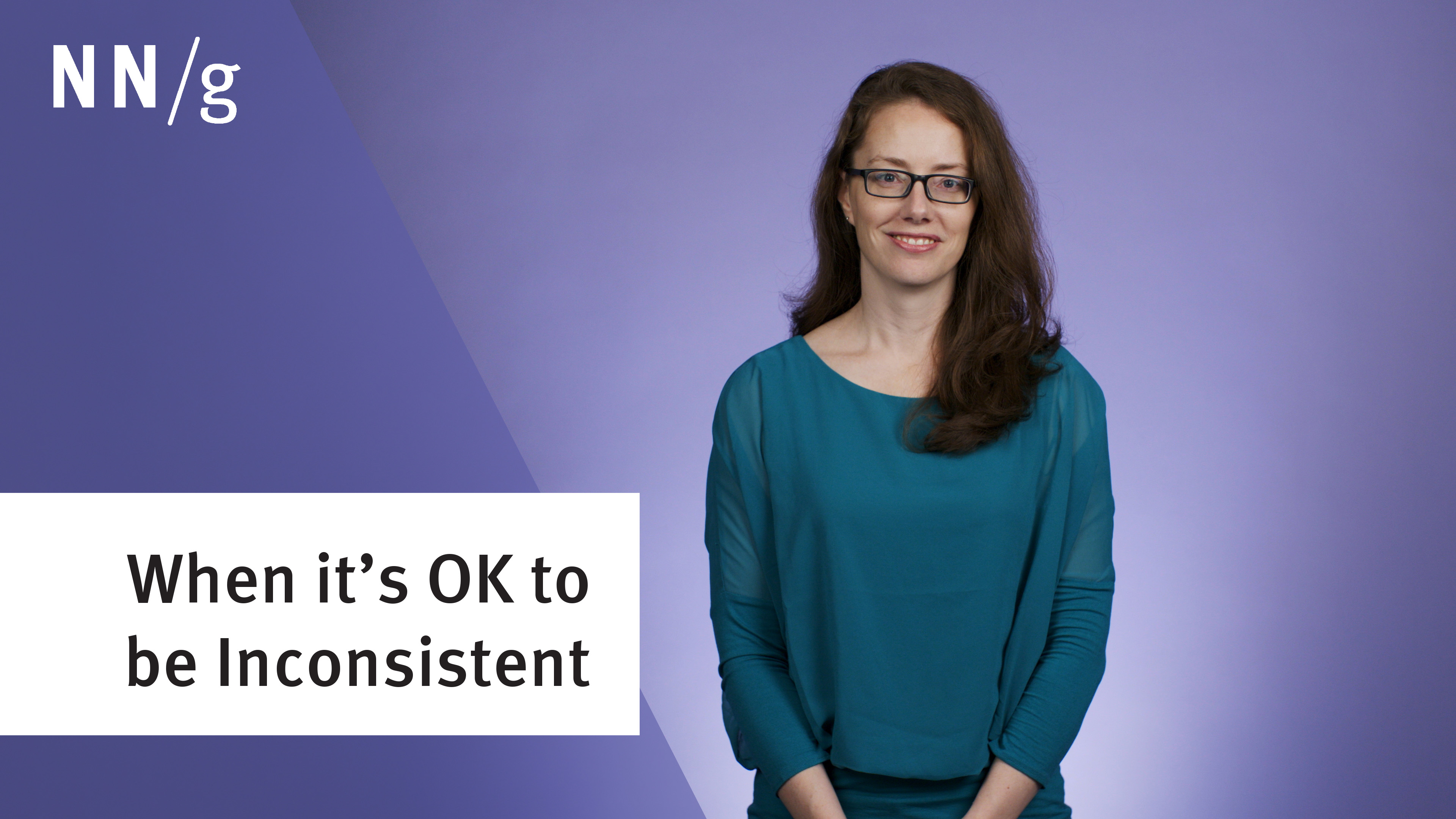 When is It OK to Be Inconsistent in User Interface Design? (Video)